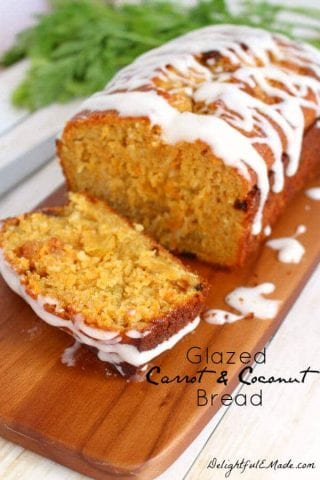 Glazed Carrot Coconut Bread