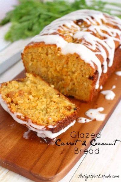 Glazed Coconut Carrot Bread