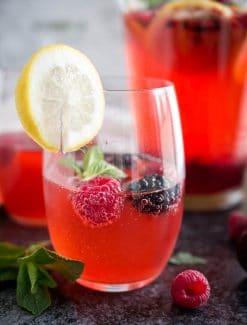 Sparkling Raspberry Mint Lemonade