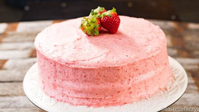 Homemade S Mores Cake Recipe: Homemade Strawberry Cake Recipe {From Scratch W/ Fresh ...