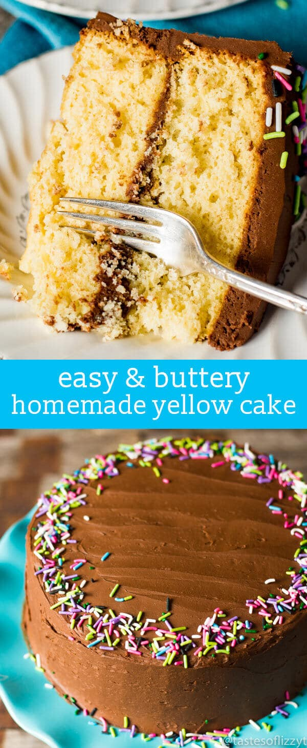 Homemade Yellow Cake Recipe {How to Make From-Scratch Buttery Yellow Cake} Hints for making a homemade yellow cake recipe. Use the right ingredients and special egg technique for a fluffy, buttery from-scratch cake.