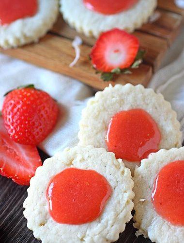 Guava-Berry Coconut Cookies