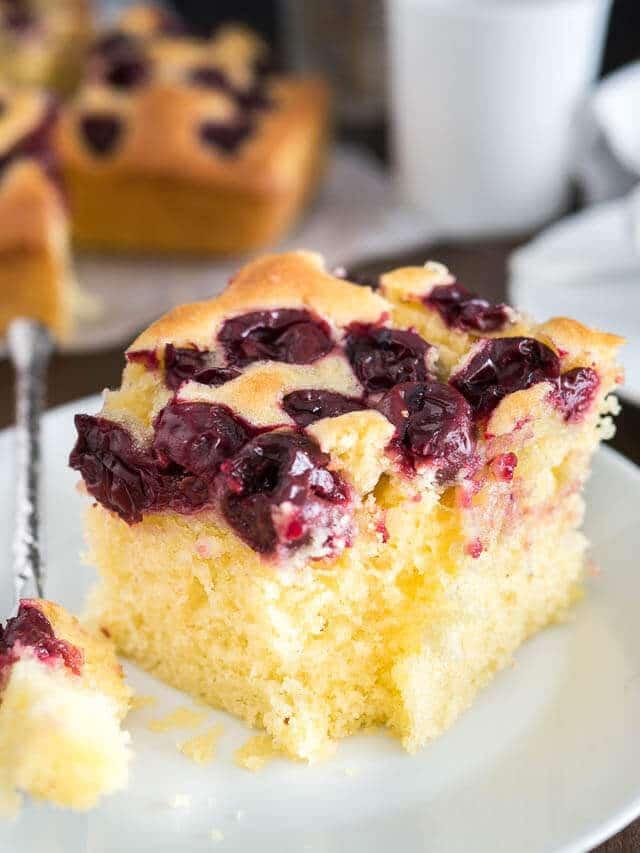 Easy Cherry Snack Cake An Easy Cherry Snack Cake Recipe