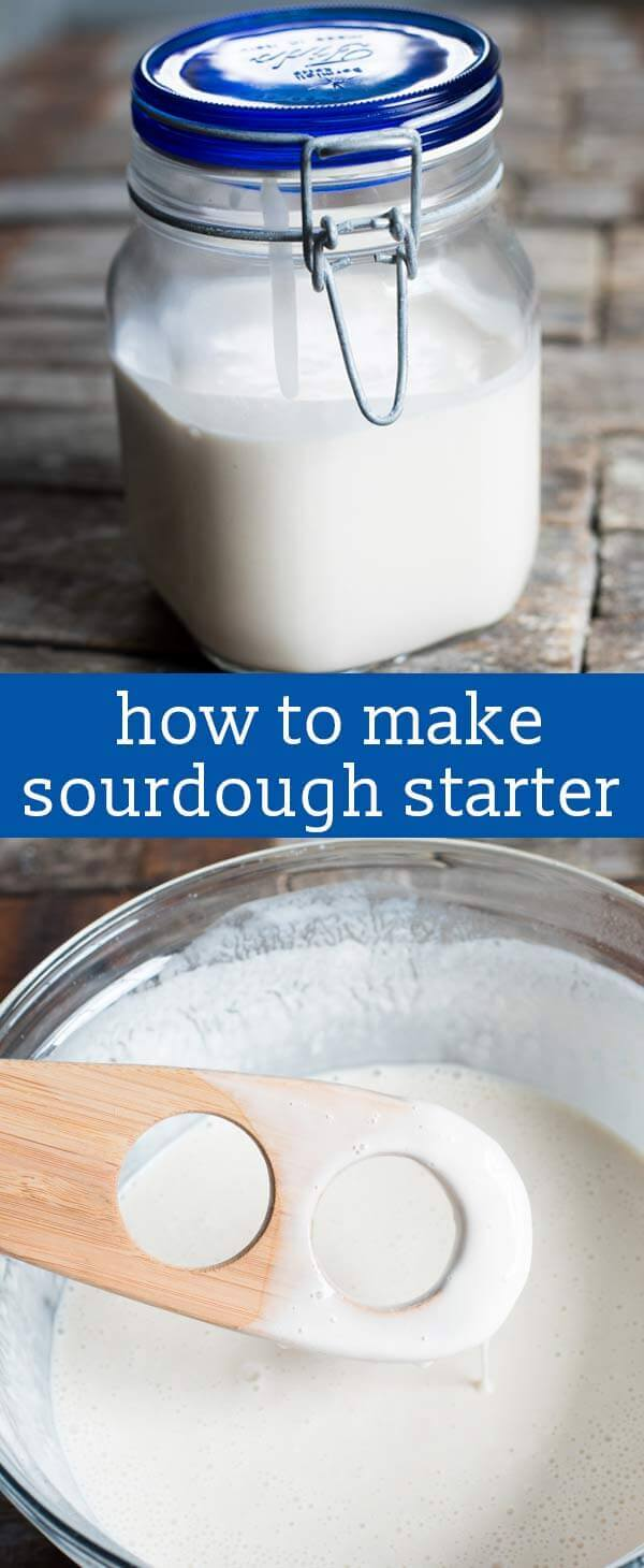 If you've ever wondered how to make sourdough starter, here is the easy way! Just 3 ingredients and 5 minutes and you are on your way to sourdough bread, pancakes, cakes and more.