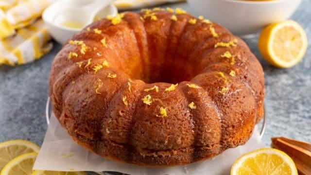 lemon pound cake with lemons