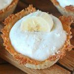 Mini Banana Coconut Cheesecakes