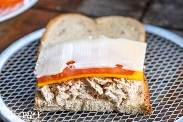 tuna melt with swiss cheese