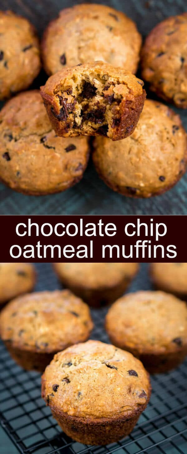 Low Fat Pumpkin Oatmeal Chocolate Chip Muffins