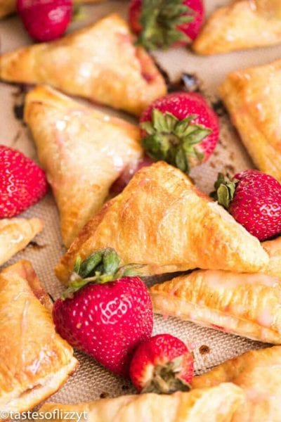 Easy Strawberry Turnovers