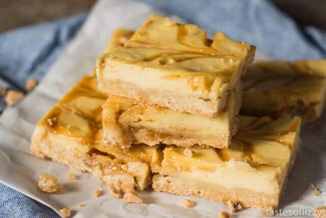 Praline Cheesecake Bars {With Toffee Bits and a Shortbread ...