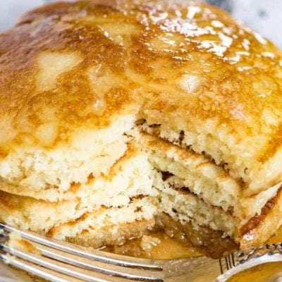 Sourdough pancakes have a delicious flavor & fluffy texture that you'll fall in love with! These will become your family's favorite breakfast.
