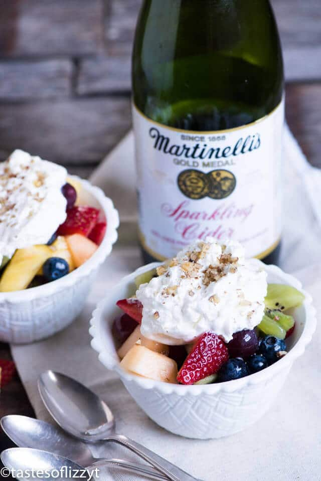 There's nothing like fresh fruit salad. This quick sparkling fruit salad is made a little extra special with sparkling cider.