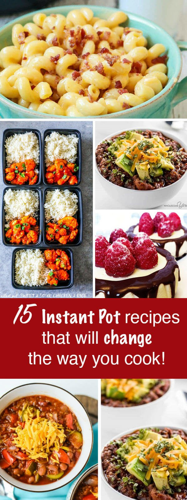 Need a change to kick-start your meal planning strategies? Try these 15 Instant Pot recipes that will change the way you think about making dinner! 15 Instant Pot Recipes To Change the Way You Cook {Easy Dinner Ideas}
