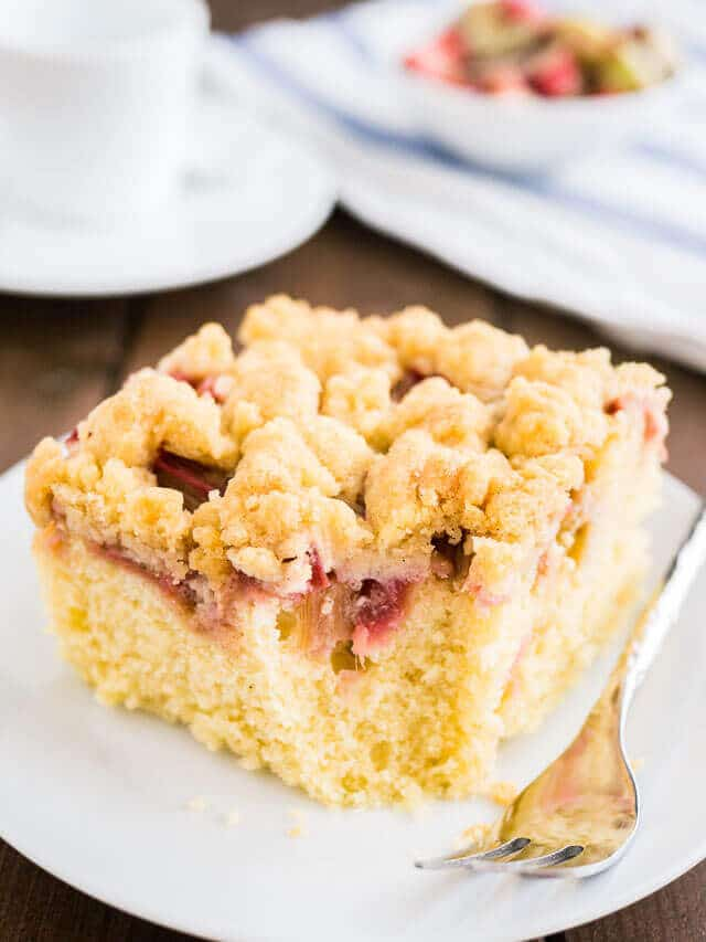 Best Moist Rhubarb Cake Recipe