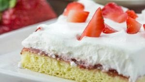 Strawberry Chiffon Sheet Cake
