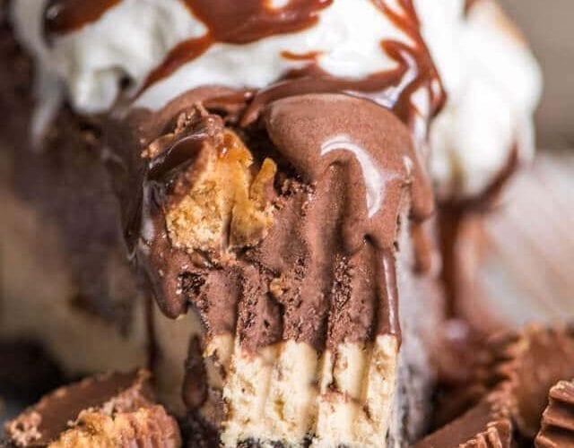Frozen Chocolate Peanut Butter Pie