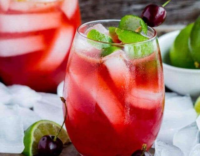 Homemade Cherry Limeade