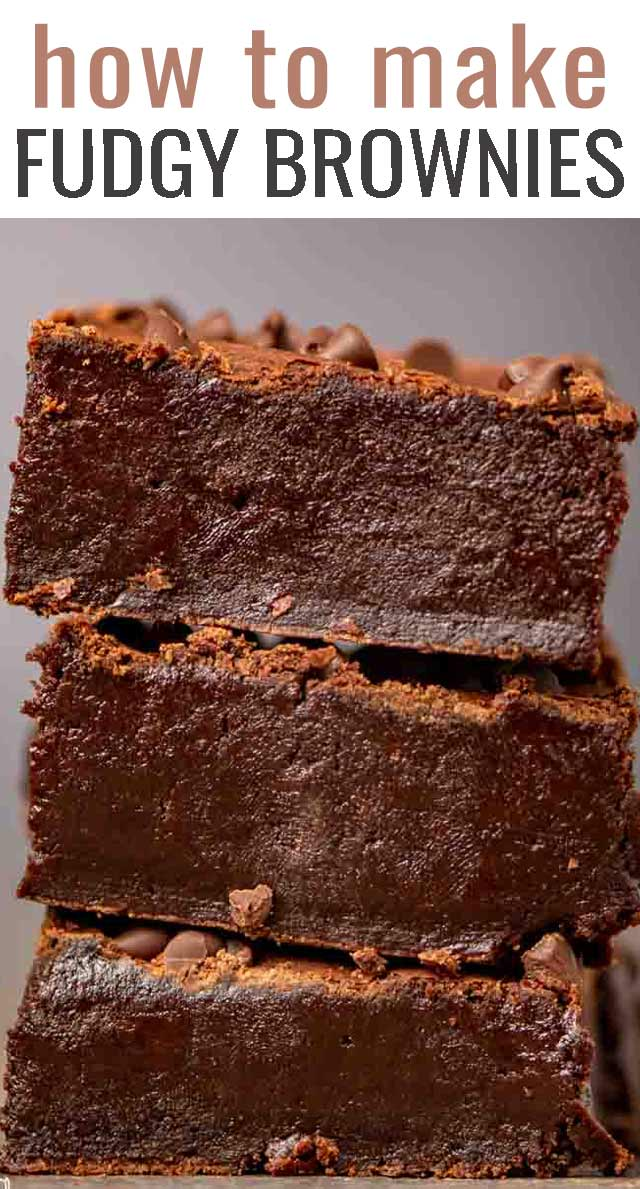 If you're looking for the best homemade brownie recipe, look no further! These fudgy brownies are thick, rich, and perfectly chocolatey. #brownies #chocolate #fudge #dessert via @tastesoflizzyt