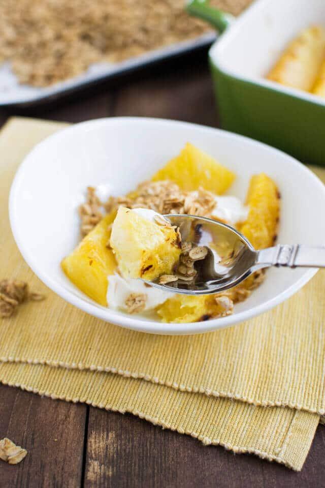 Maple Roasted Pineapple