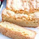 Peach Bread with sugar crumb crust