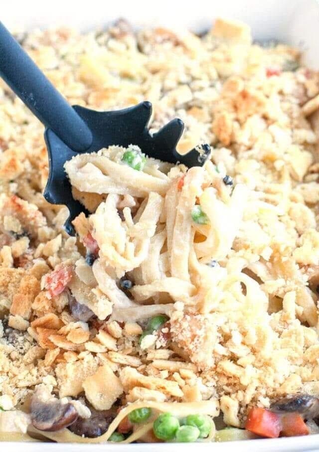 Chicken Tetrazzini Casserole Easy Weeknight Dinner Recipe