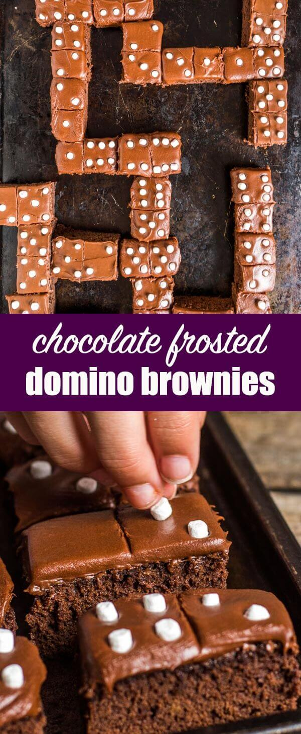 Bring delicious math fun into your child's life with these Domino Brownies! Perfect for practicing addition and subtraction, or a sweet snack for family game night. Domino Brownies {Fun Dessert Recipe for the Kids to Make} #brownies #gamenight #dominos