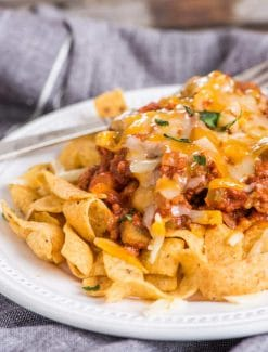 Frito Chili Pie {Texas Straw Hat}