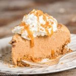frozen pumpkin pie with a gingersnap crust