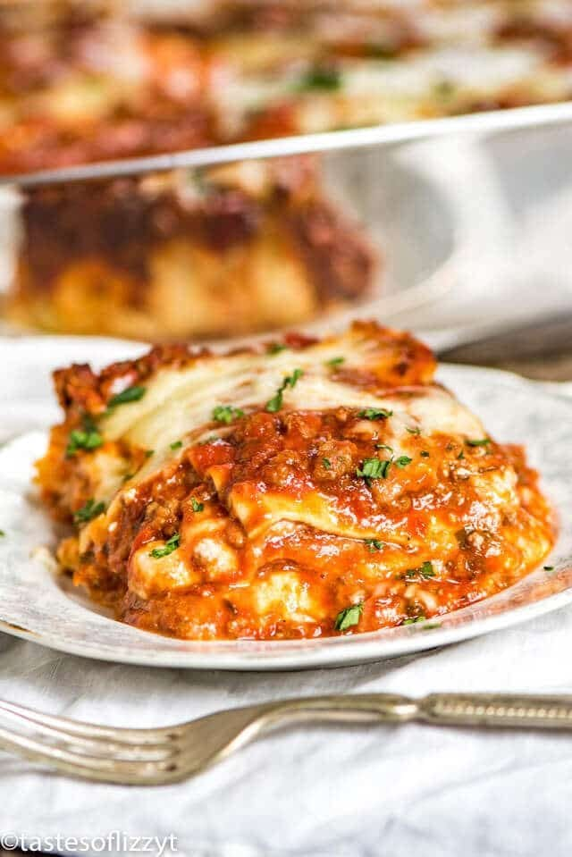 Classic Homemade Lasagna Recipe 5 Cheeses From Scratch Sauce