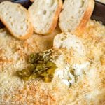 Jalapeno Popper Dip with cream cheese and green chilies