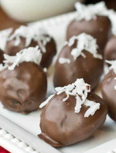 chocolate dipped oreo truffles with coconut