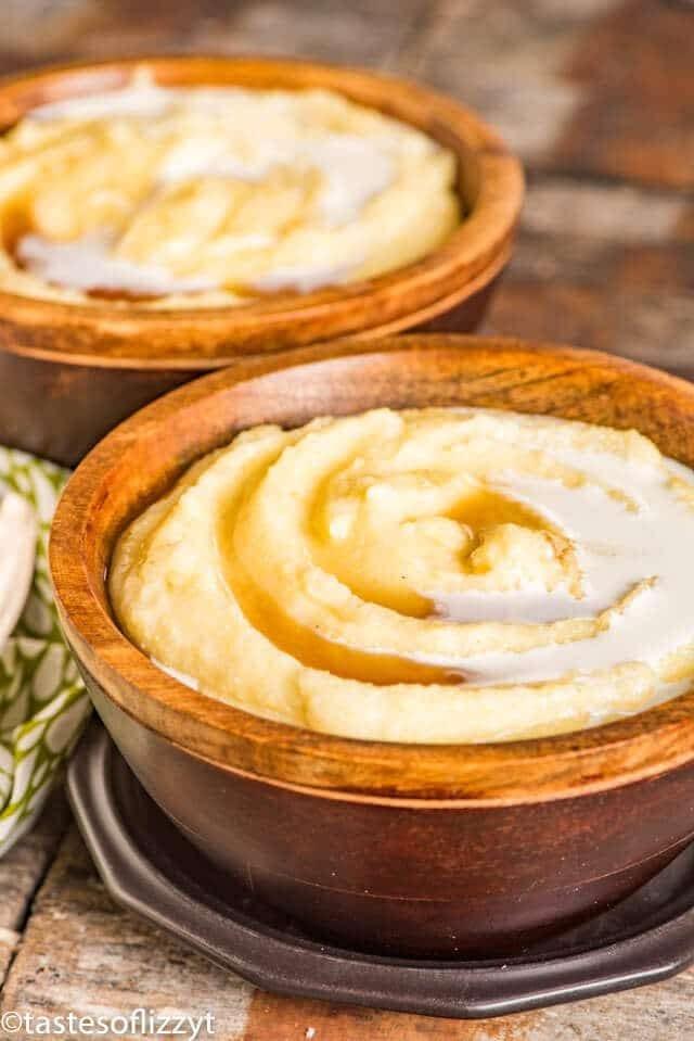 bowl of cornmeal mush