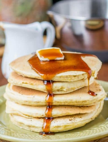 Cornmeal Pancakes Recipe with Brown Sugar Maple Syrup
