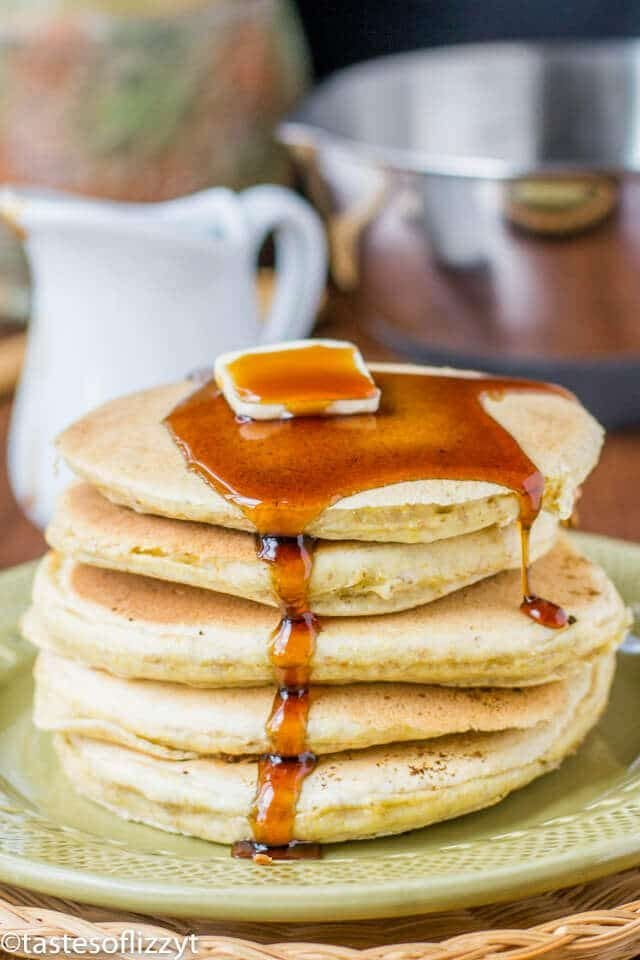 Cornmeal Pancakes Recipe with Brown Sugar Maple Syrup