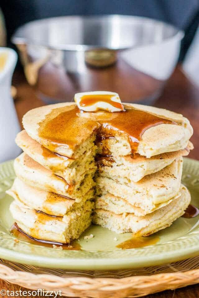 pancakes made with cornmeal