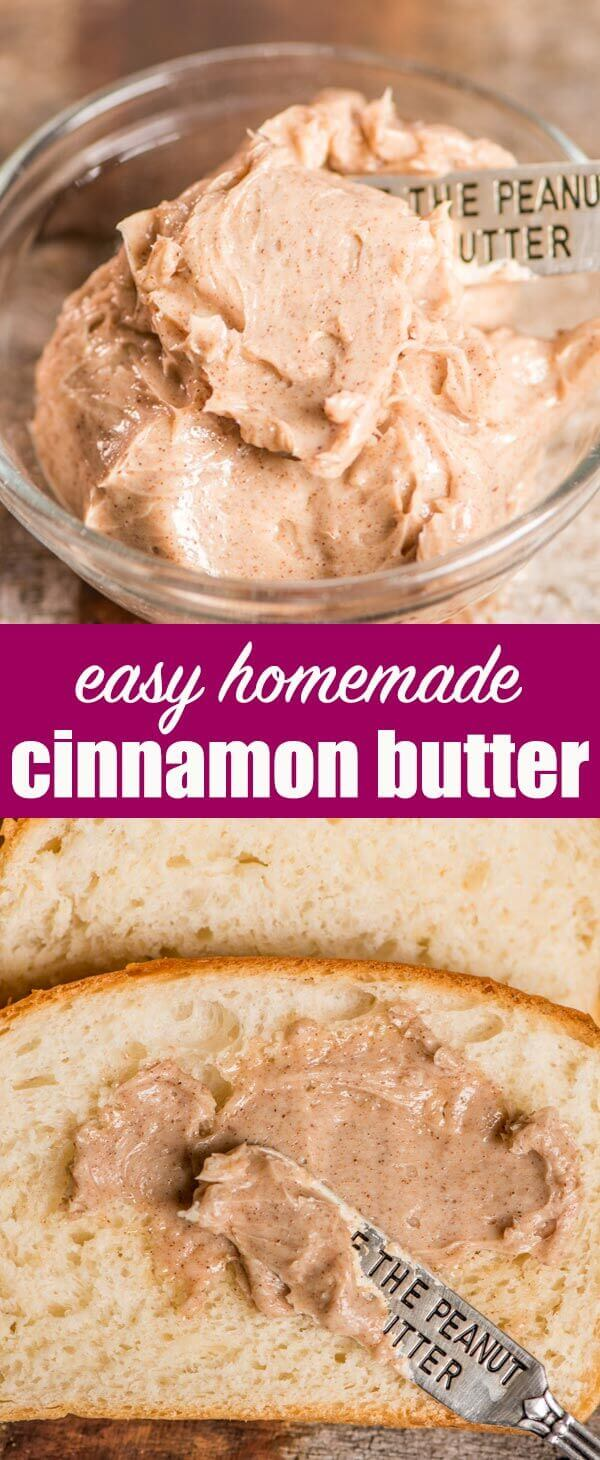 Homemade Cinnamon Butter Recipe that is lightly sweetened. Perfect for pancakes, toast, homemade bread, pumpkin rolls or homemade biscuits. Cinnamon Butter {How To Make an Easy, Sweet Cinnamon Butter Spread}