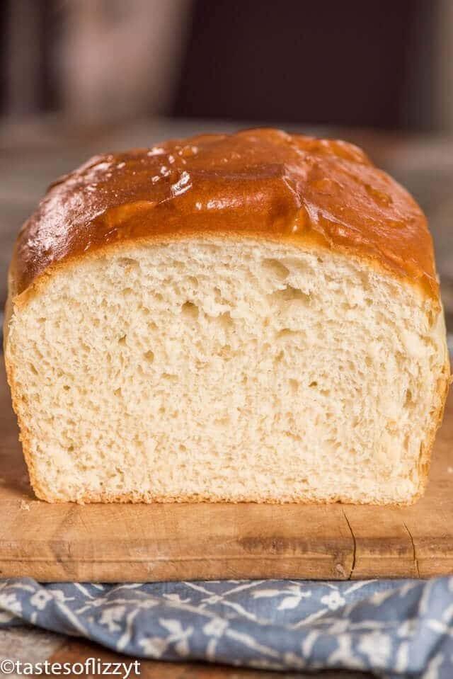 half of a loaf of potato bread