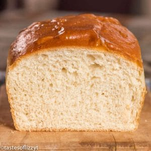 loaf of potato bread made with mashed potatoes