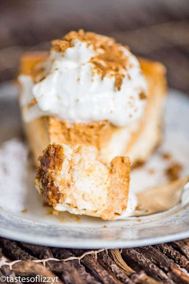 slice of pumpkin pie with gingersnap crust