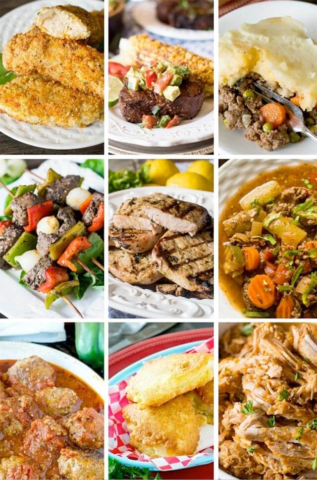 collage of healthy recipes