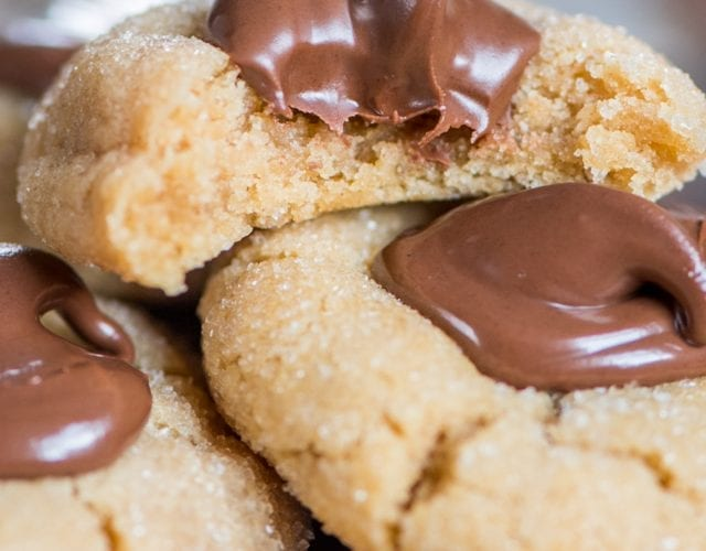 Peanut Butter Thumbprint Cookies with Nutella® Hazelnut Spread