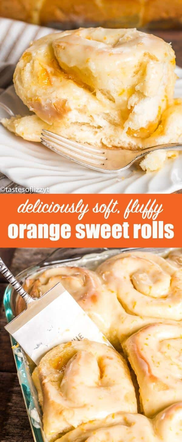 Looking for a new sweet roll to try? Try this Orange Rolls recipe that is infused with orange flavor in the dough, filling and the sweet glaze on top. These super soft rolls are THE BEST! #orangerolls #sweetrolls #breakfast #brunch #pastry