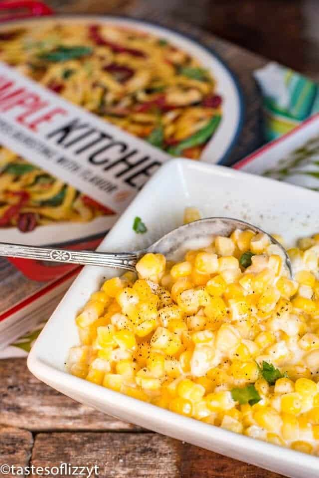 bowl of creamed corn