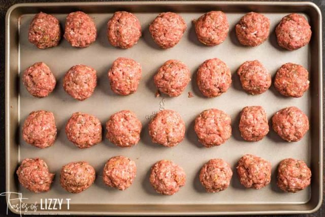 unbaked meatballs