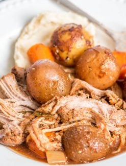 pork tenderloin with potatoes and carrots