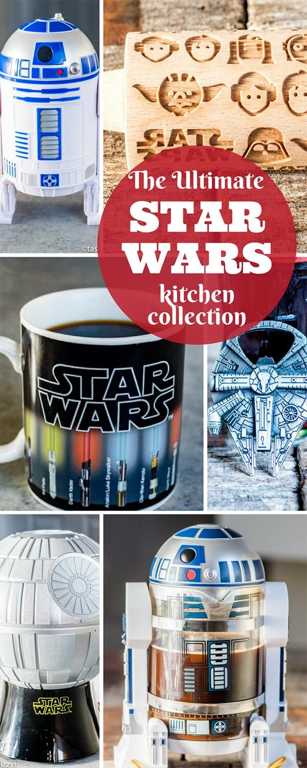 Is there a Star Wars fan in your life who loves to cook and spend time in the kitchen? Give them the gift of the ultimate Star Wars kitchen tools! Star Wars Kitchen - The Ultimate Nerdy Star Wars Kitchen Collection #starwars #kitchen #deathstar #r2d2
