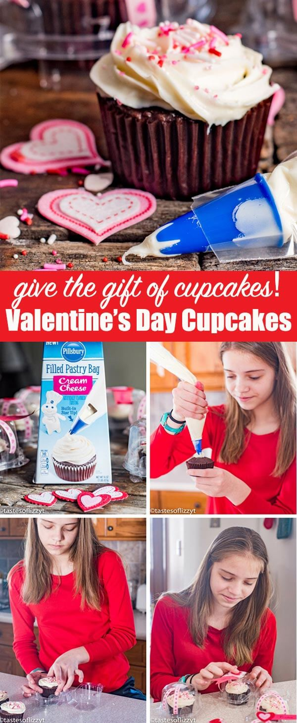 Keep the day of love all about giving with these easy Valentine's Day Cupcakes. Your kids will love making these quick treats and decorating cupcake holders to give to their family and friends.
