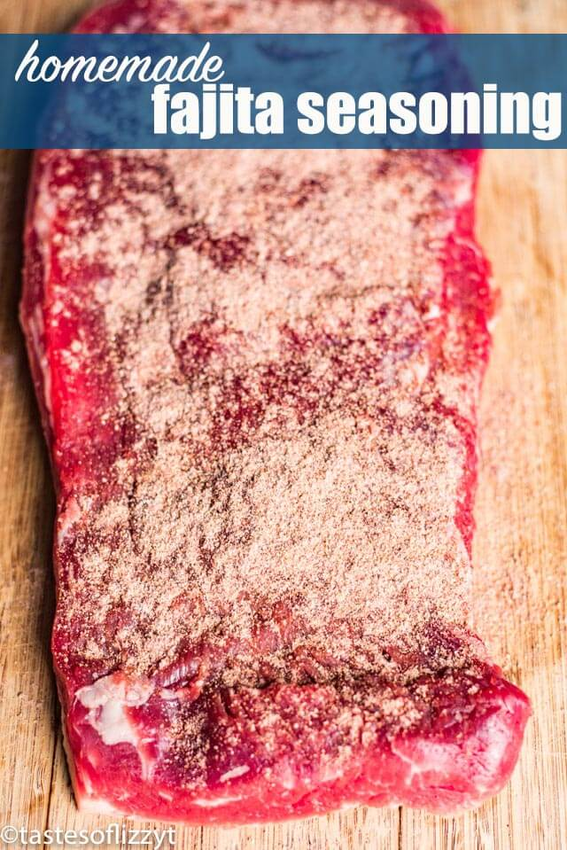 seasoned steak for fajitas