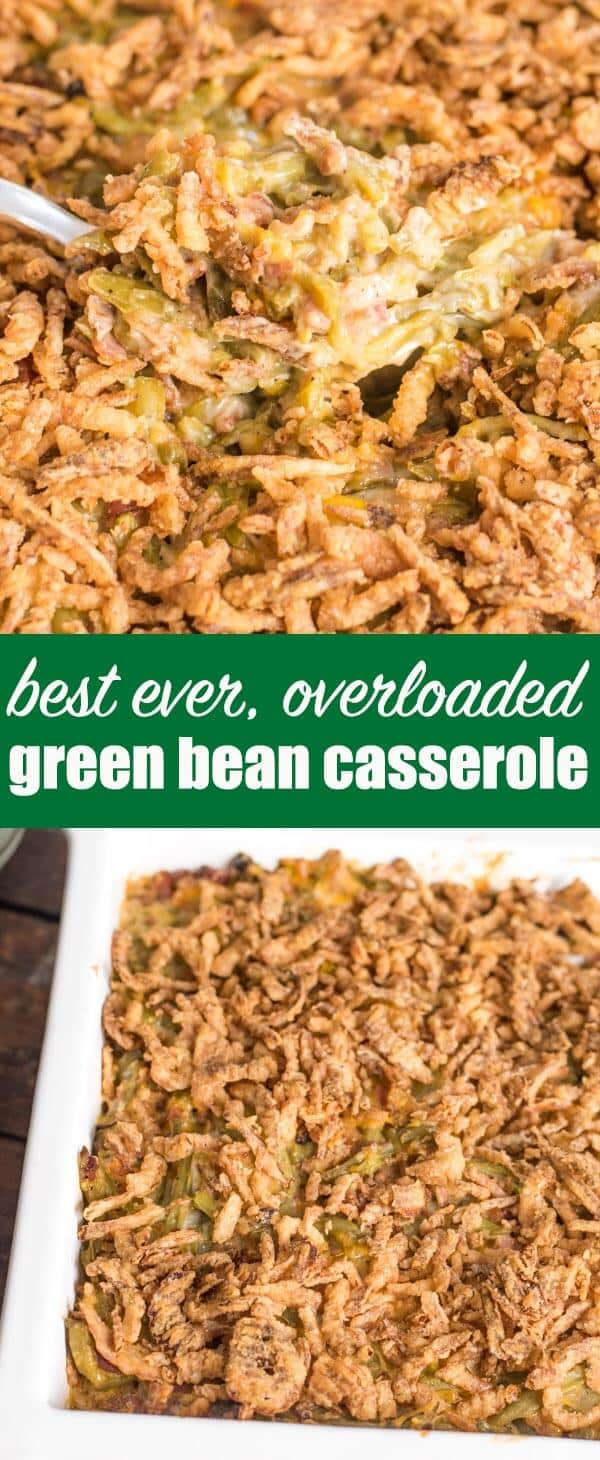 If you're looking for the best green bean casserole recipe, you've found it! We've got the top variations on this traditional side dish. Think bacon, cheese and slow cooker varieties! Plus tips on how to make this casserole in advance. #greenbean #greenbeancasserole #easter #thanksgiving #christmas #casserole #beans #recipe