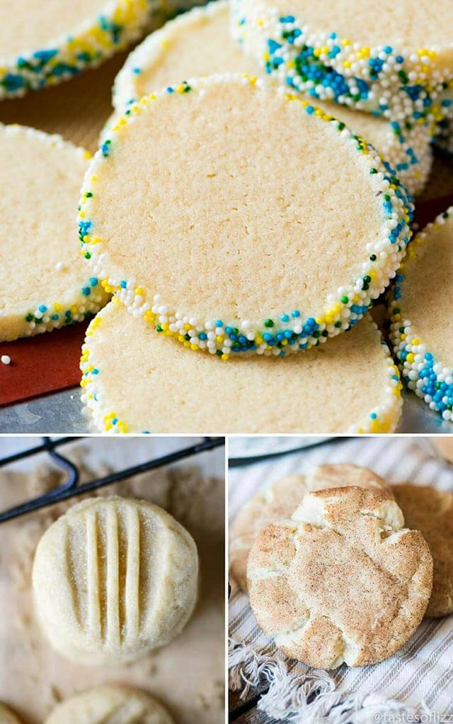 collage of sugar cookies